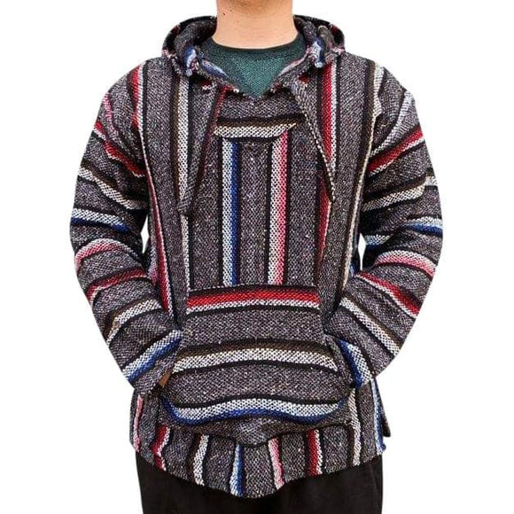Mexican Surfer Baja Hoodie Multicoloured Thick Stripes baja