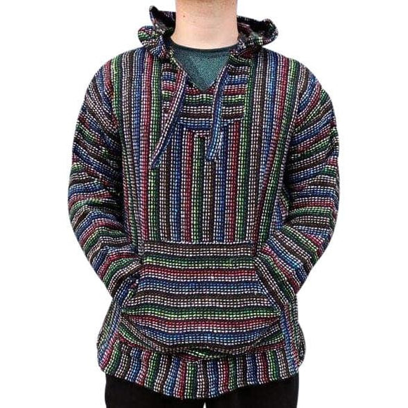 Mexican Surfer Baja Hoodie Multicoloured Thin Stripes baja