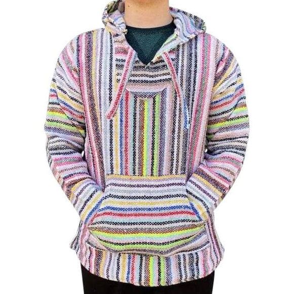 Mexican Surfer Baja Hoodie Neon Multicoloured baja hoodies,