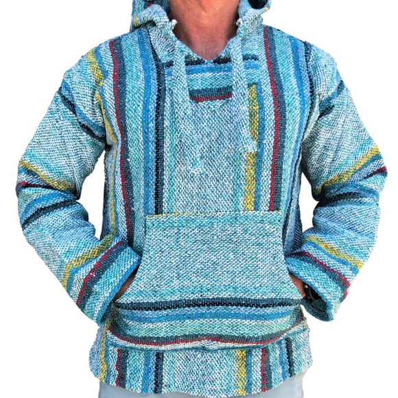 Mexican Surfer Baja Hoodie Turquoise Multicoloured baja