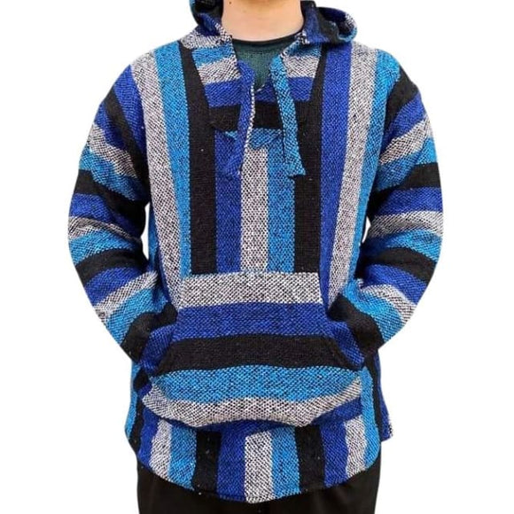 Mexican Surfer Baja Hoodie Two Tone Blue baja hoodies,