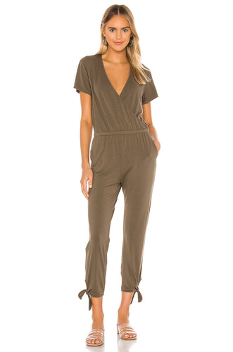 Tied Leg Surpice Jumpsuit
