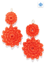 Load image into Gallery viewer, Roberta Roller Rabbit Macrame Earrings