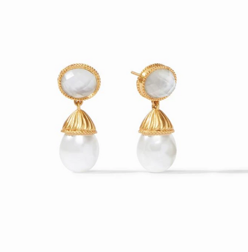 Julie Vos Olympia Pearl Earring