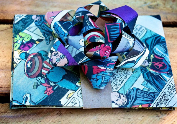 Gift Wrap Partttttay....using all up-cycled materials!