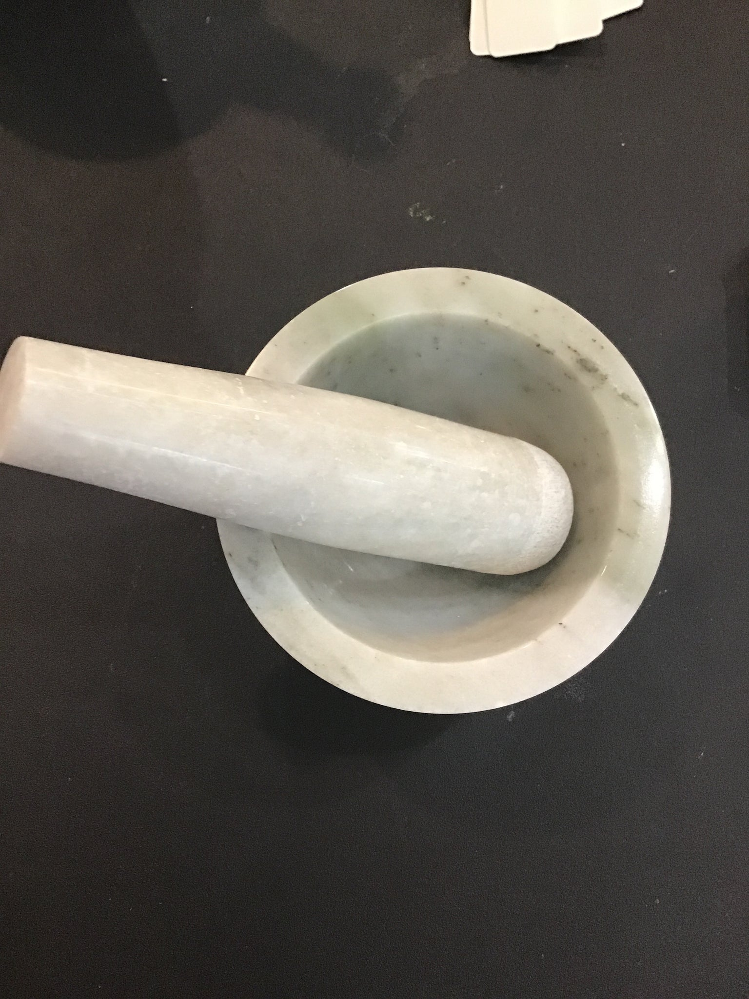 Marble mortar and pestle