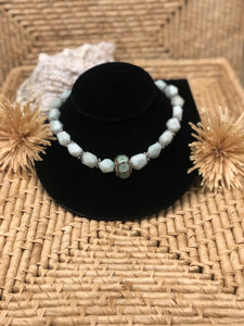 Amazonite and Silver Necklace - The Pearl of Door County