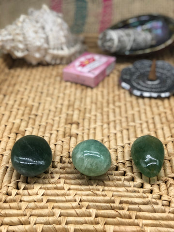 Green Fluorite Palm Stone - The Pearl of Door County