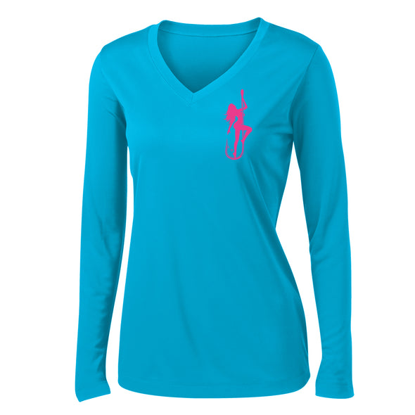 Dirty Hooker Classic Pink Ladies V-neck Dry Fit