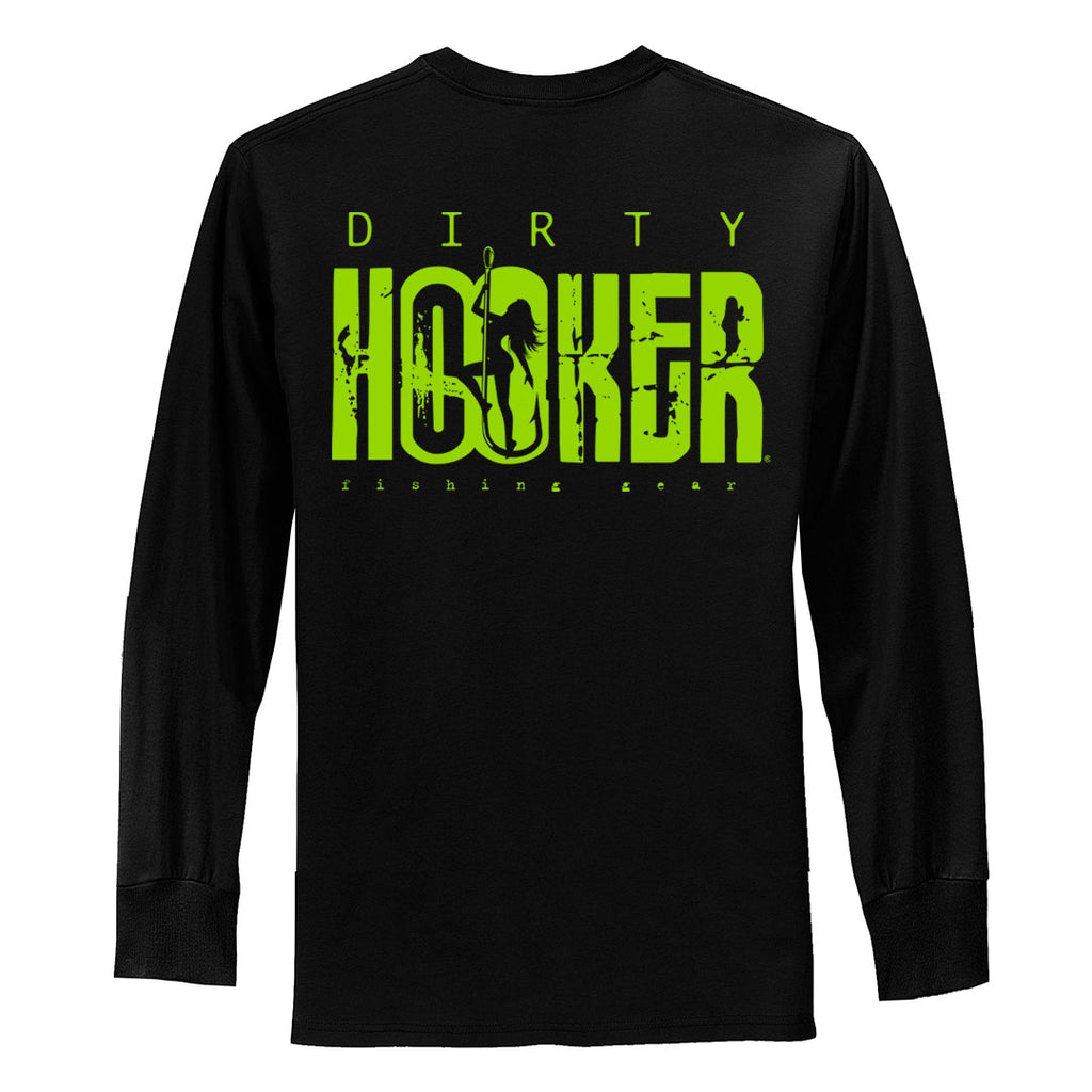 Dirty Hooker Classic Green Long Sleeve T-Shirt