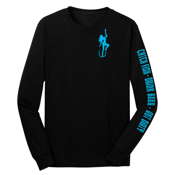 Dirty Hooker Classic Light Blue Long Sleeve T-Shirt