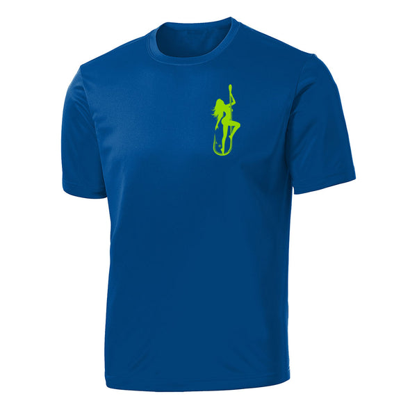 Dirty Hooker Classic Green on Royal Blue Sleeve Dry Fit