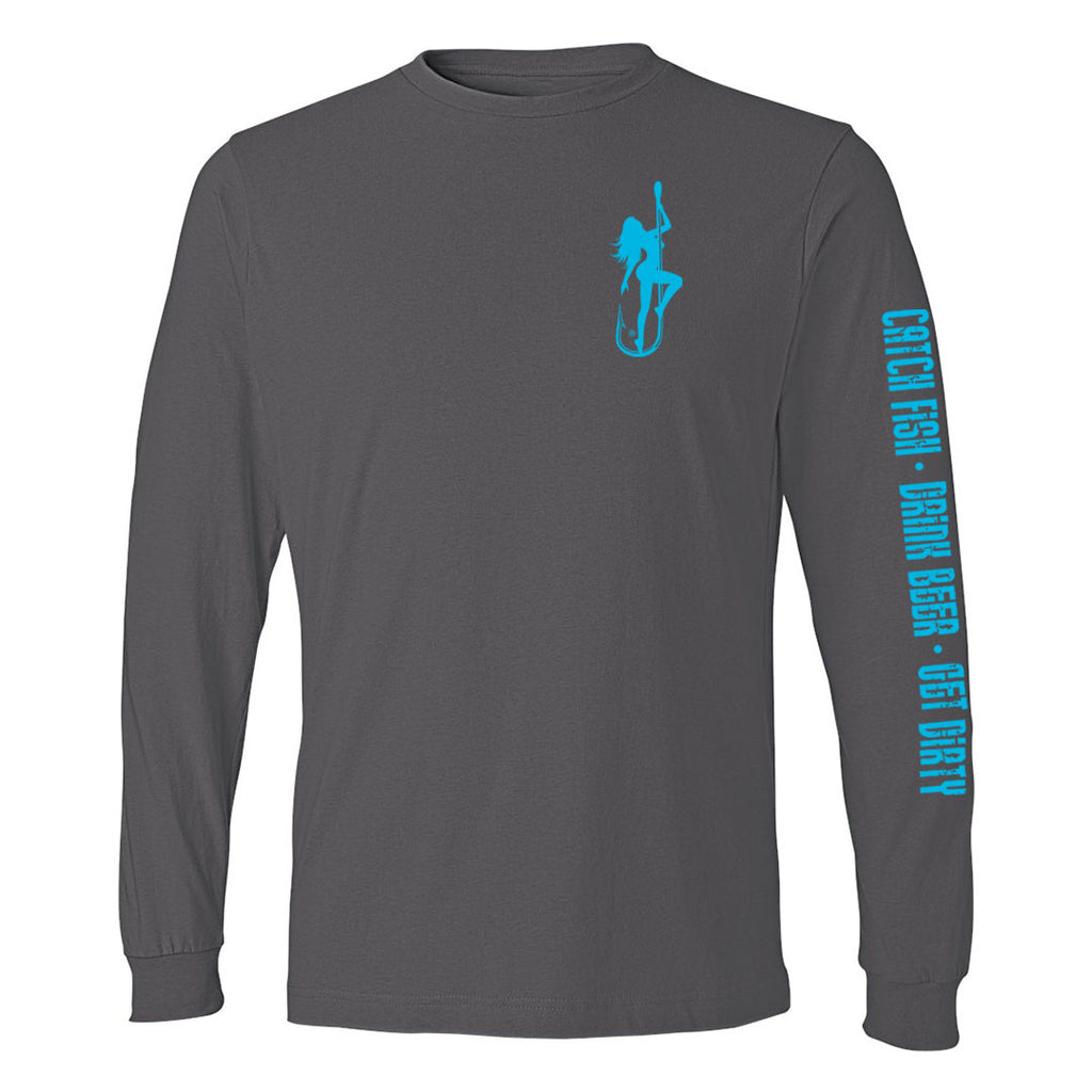 Dirty Hooker Classic Light Blue Lightweight Long Sleeve T-Shirt