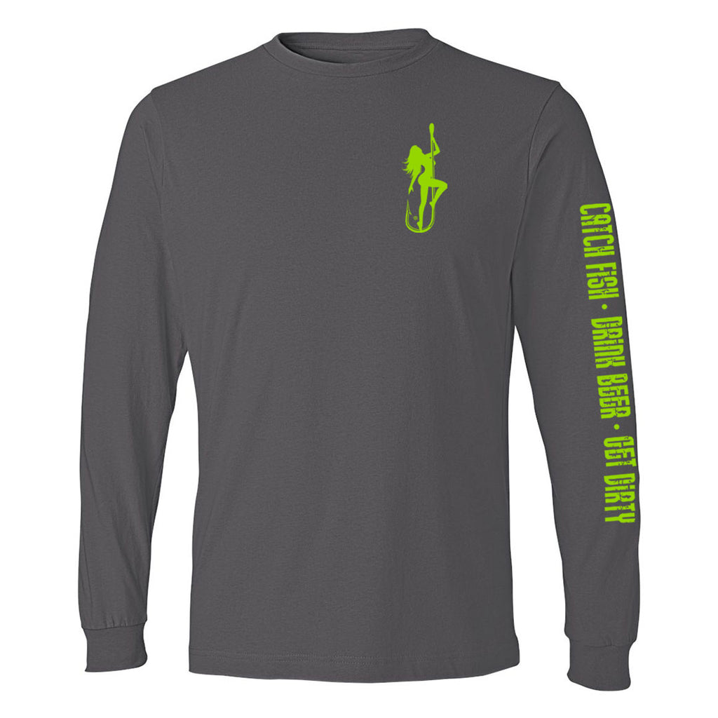 Dirty Hooker Classic Green Lightweight Long Sleeve T-Shirt