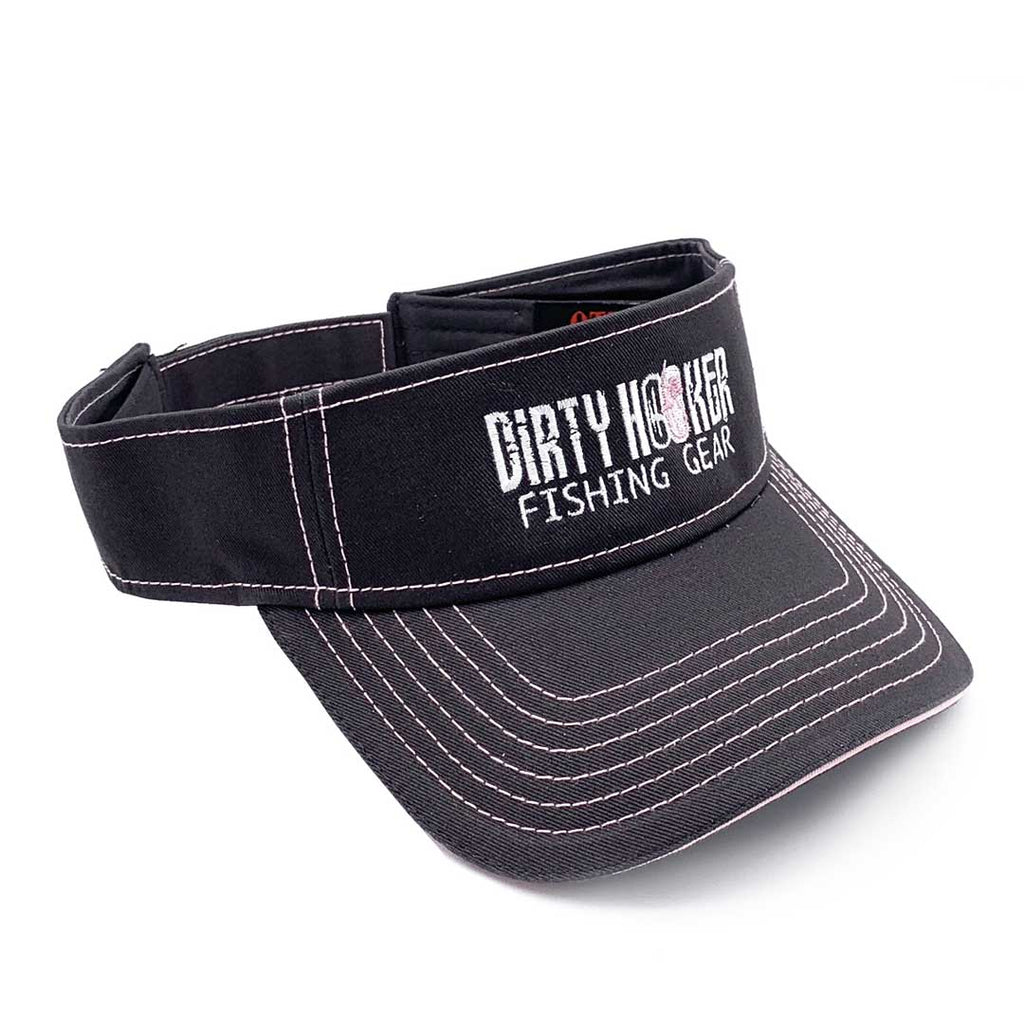 Dirty Hooker Visor Charcoal and Soft Pink