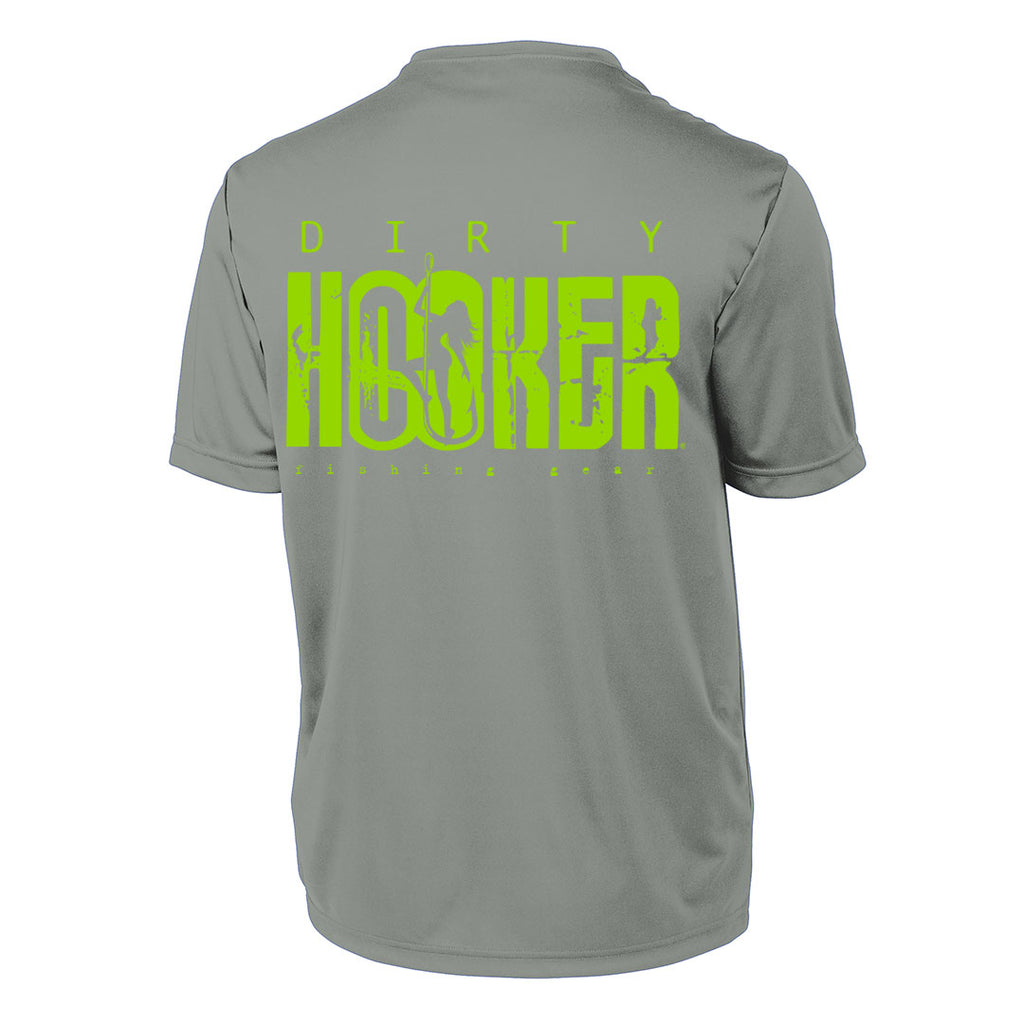 Dirty Hooker Classic Green on Concrete Short Sleeve Dry Fit