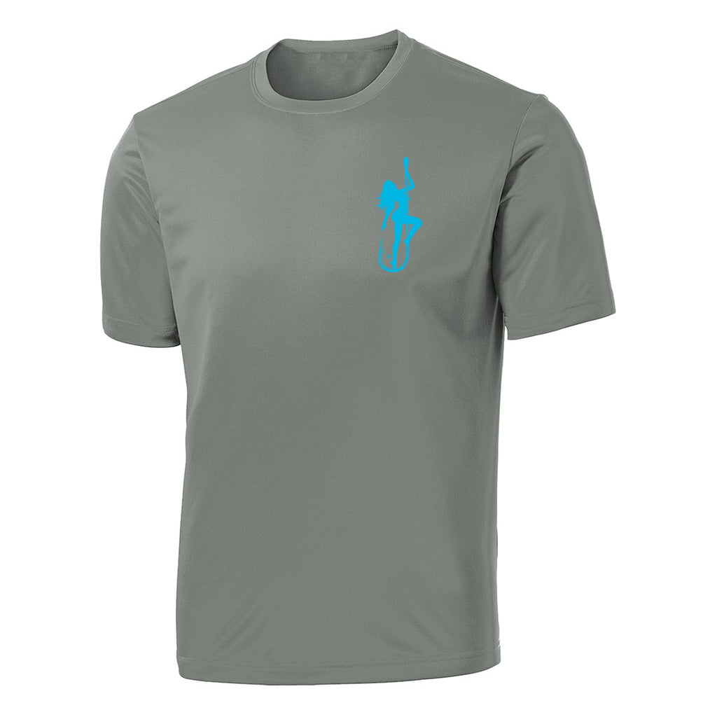 Dirty Hooker Classic Light Blue on Concrete Short Sleeve Dry Fit