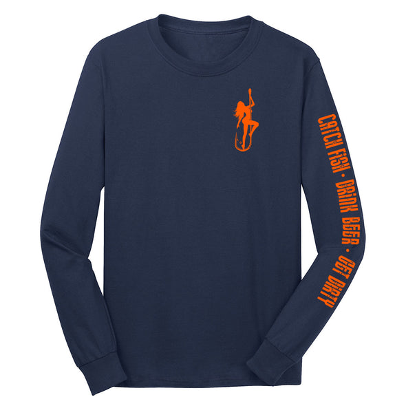 Dirty Hooker Classic Bright Orange Long Sleeve T-Shirt