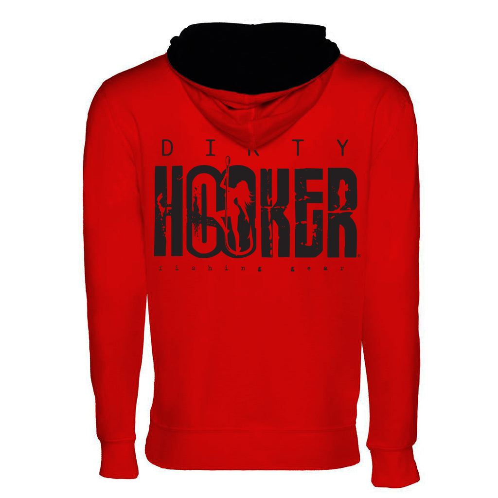 Dirty Hooker Classic Black Lightweight Pullover Hoodie