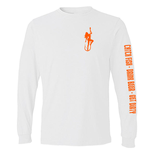 Dirty Hooker Classic Orange Lightweight Long Sleeve T-Shirt