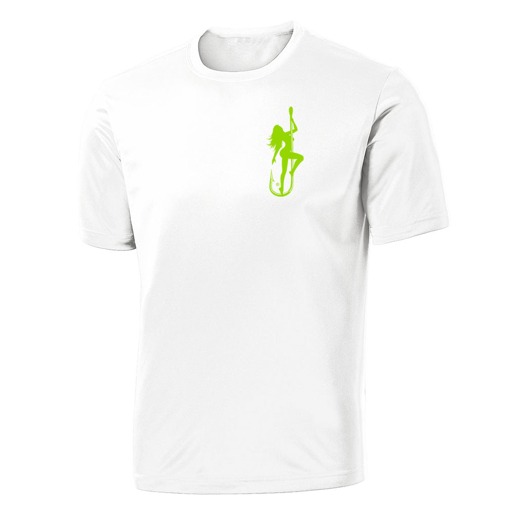 Dirty Hooker Classic Green on White Short Sleeve Dry Fit
