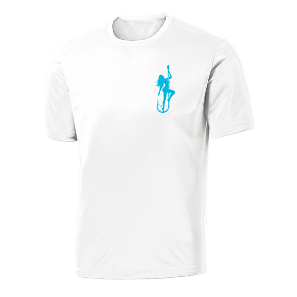 Dirty Hooker Classic Light Blue on White Short Sleeve Dry Fit