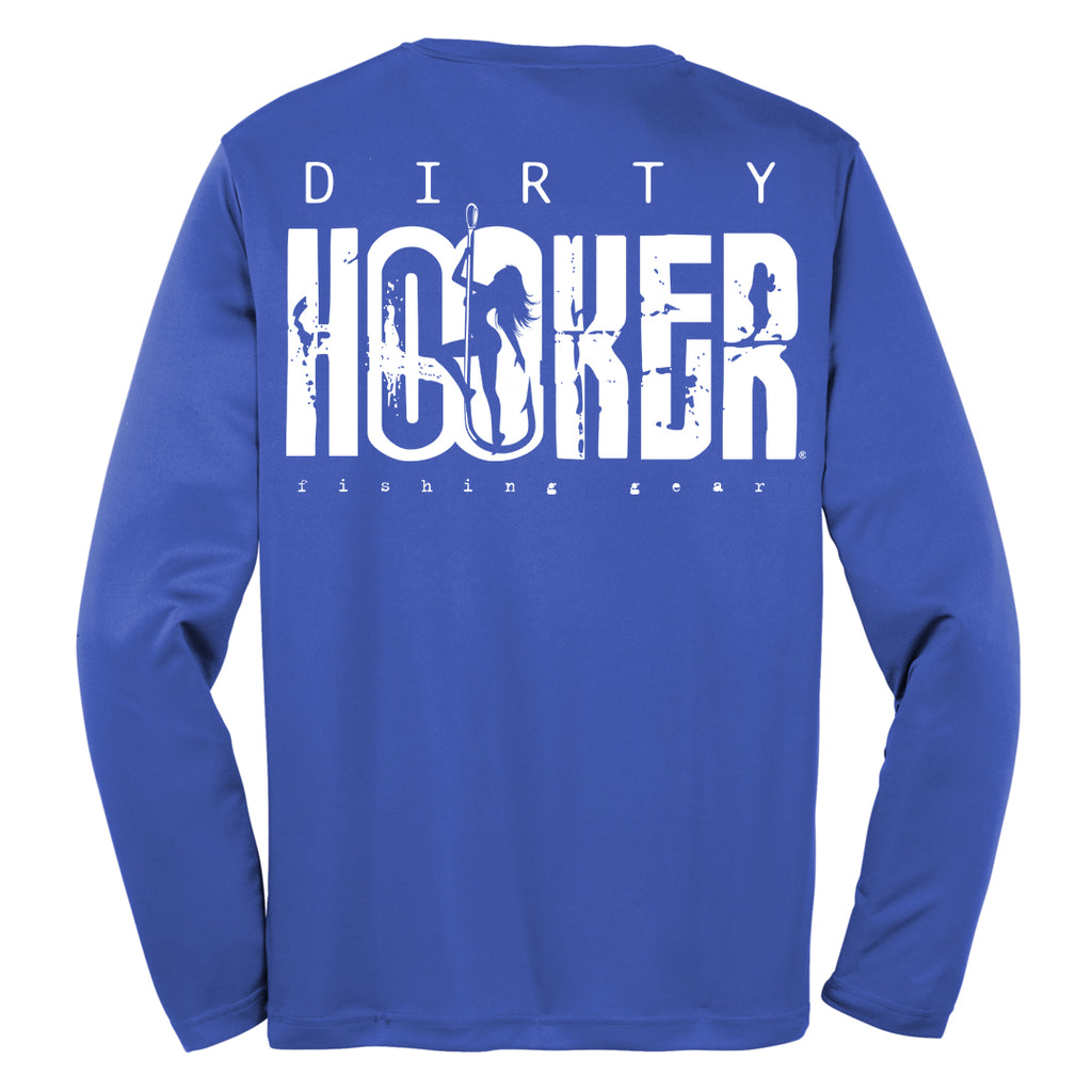 Dirty Hooker Classic White on Royal Blue Dry Fit