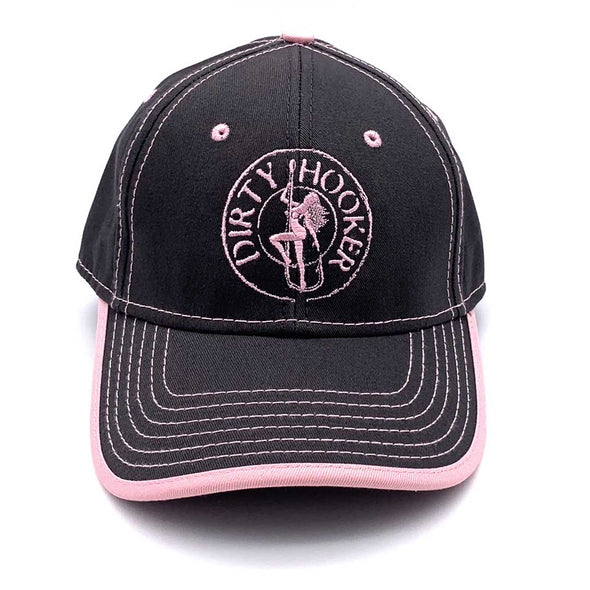 Dirty Hooker Premium Hat Charcoal Pink