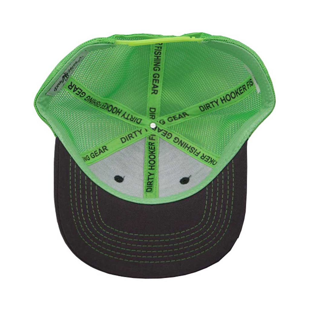 Dirty Hooker Deluxe Hat Bright Green