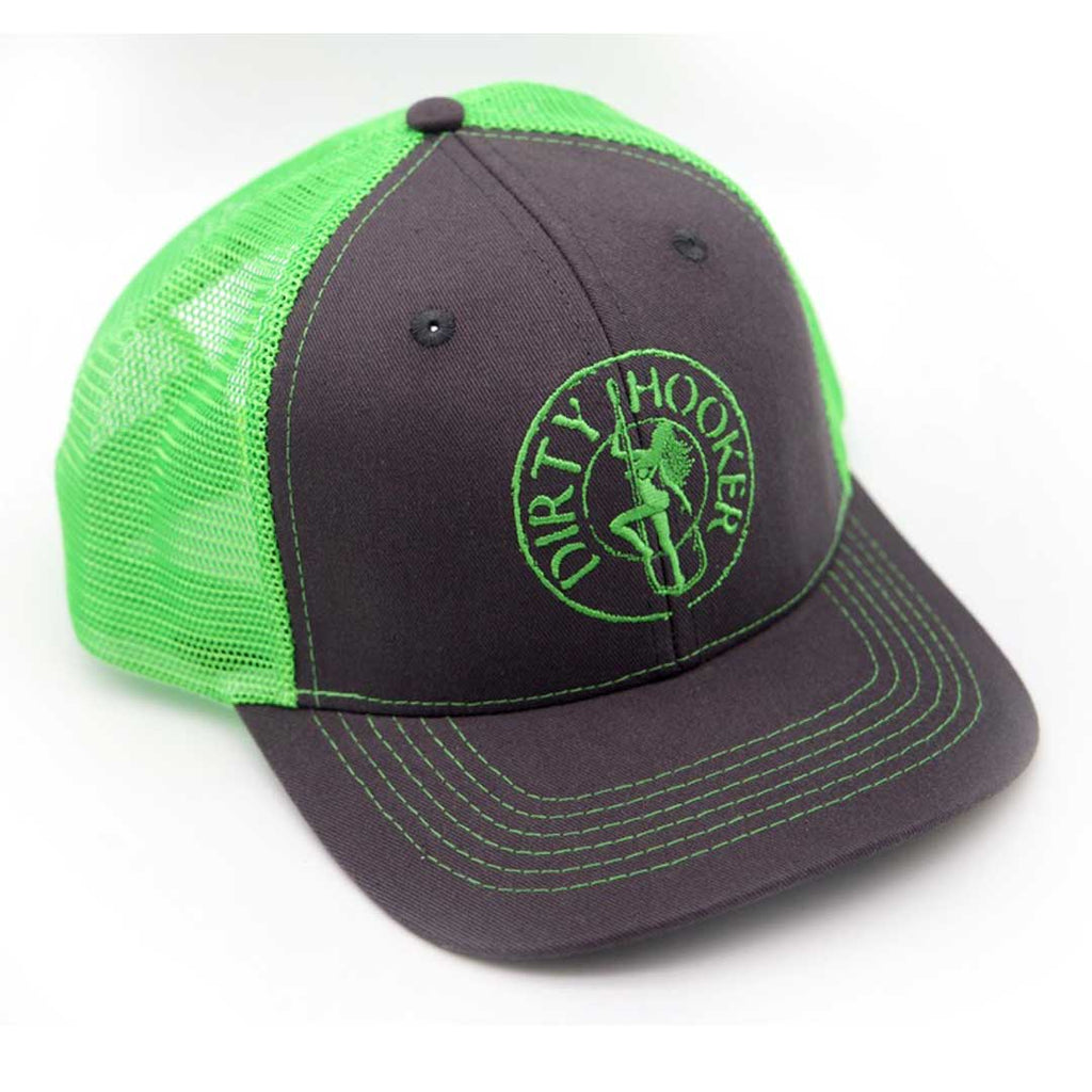 Dirty Hooker COMBO: Charcoal Dry Fit with Classic Green & Charcoal and Green Hat
