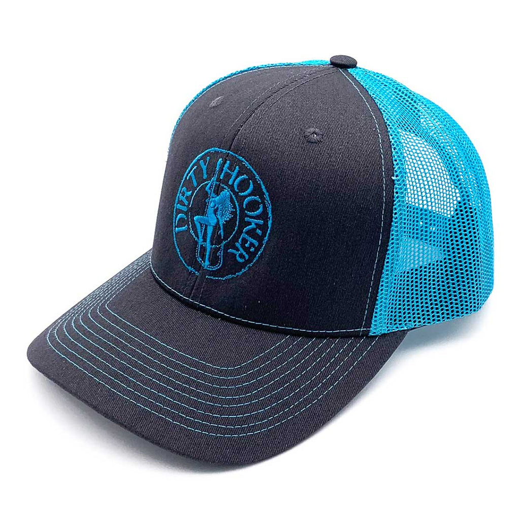 Dirty Hooker Deluxe Hat Bright Blue