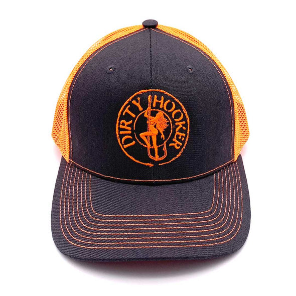 Dirty Hooker Deluxe Hat Bright Orange
