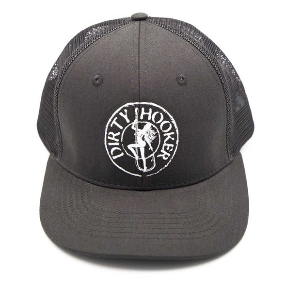Dirty Hooker Premium Trucker Hat Charcoal