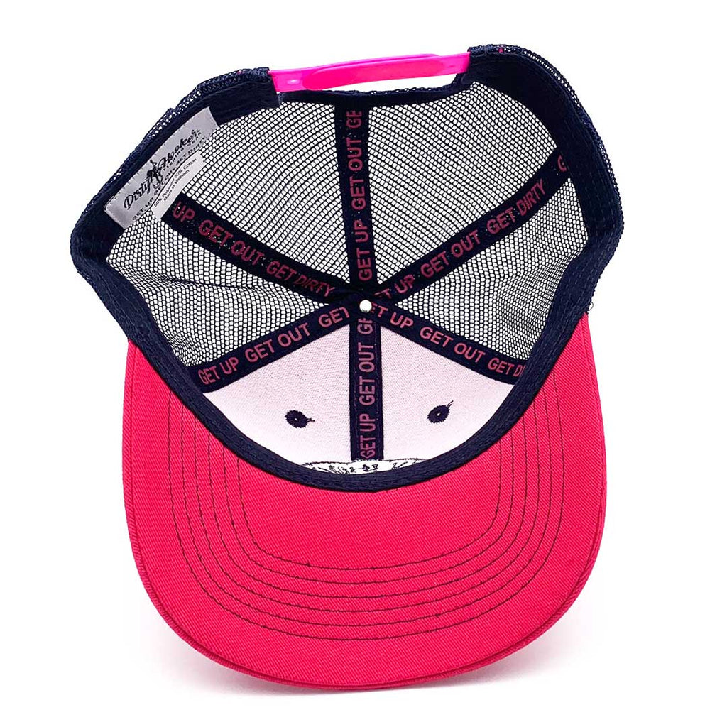 Dirty Hooker Deluxe Hat Raspberry & Navy