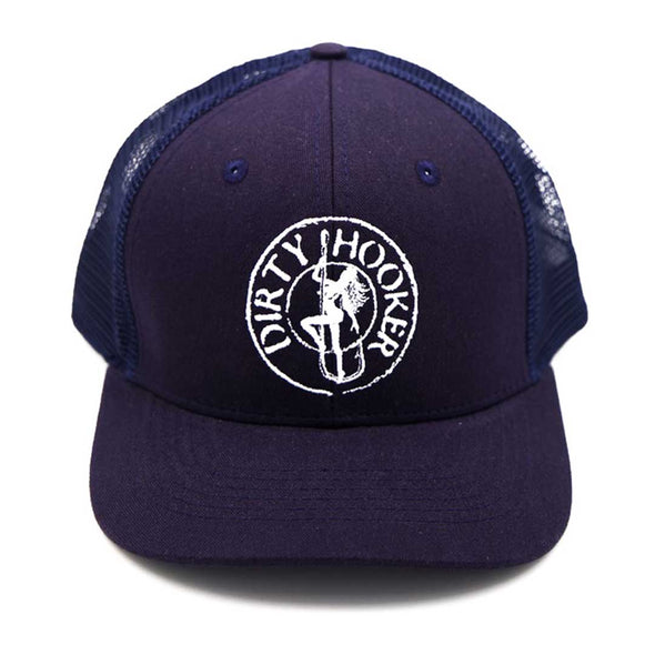 Dirty Hooker Premium Trucker Hat Navy