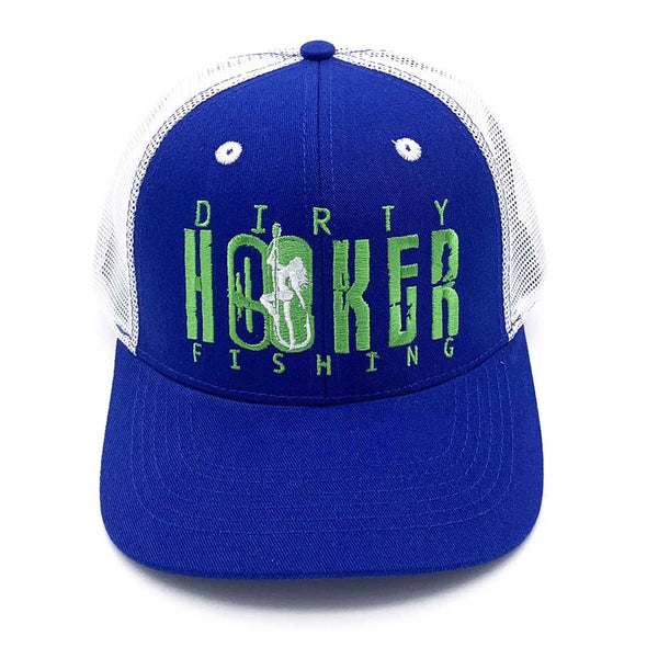 Dirty Hooker Deluxe Hat Royal & White