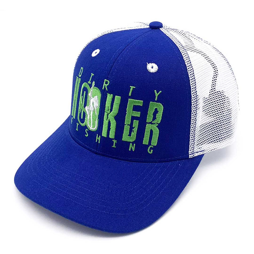 Dirty Hooker COMBO: Classic Green Dry Fit & Royal and White Deluxe Hat