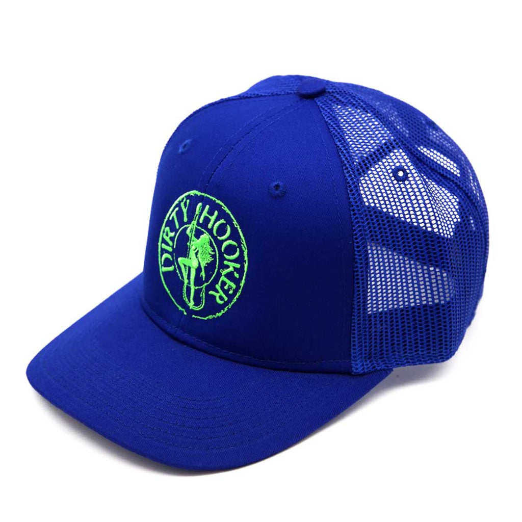 Dirty Hooker Premium Trucker Hat Blue