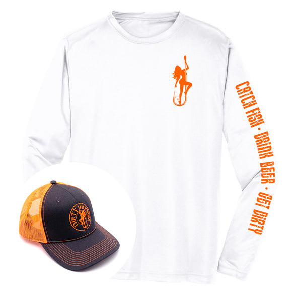 Dirty Hooker COMBO: Classic Orange Dry Fit & Deluxe Orange Hat