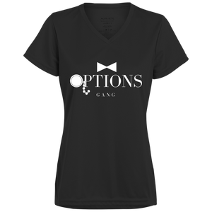 Options Gang Ladies Moisture Wicking T-Shirt (Big Logo)
