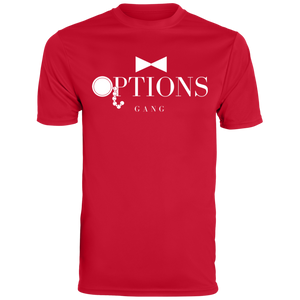 Options Gang Mens Moisture Wicking T-Shirt (Big Logo)