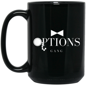 Options Gang 15 oz. Black Mug