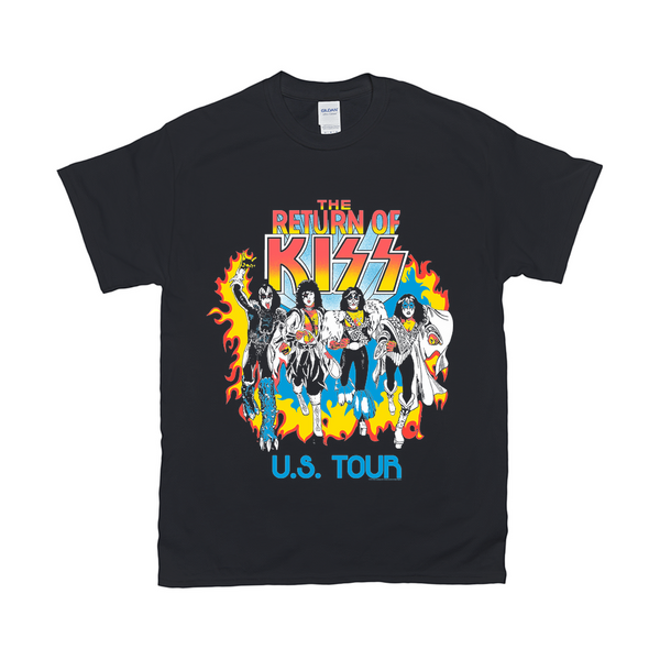 The Return of KISS Black T-Shirt