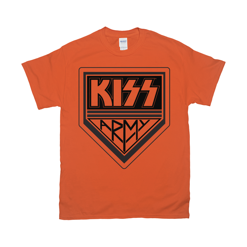 KISS Army Black Logo T-Shirt