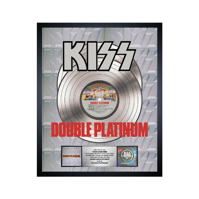 Personalized Double Platinum Award