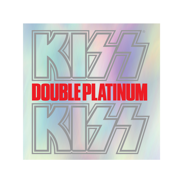 Double Platinum Holographic Sticker