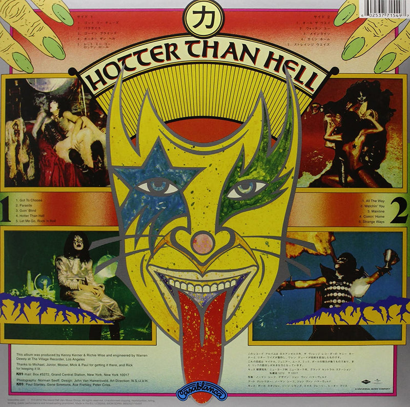 Hotter Than Hell LP