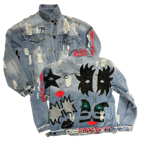 Dynasty Hand Painted Denim Jacket