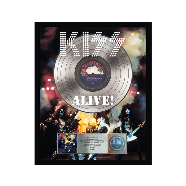 Personalized Alive! Platinum Record