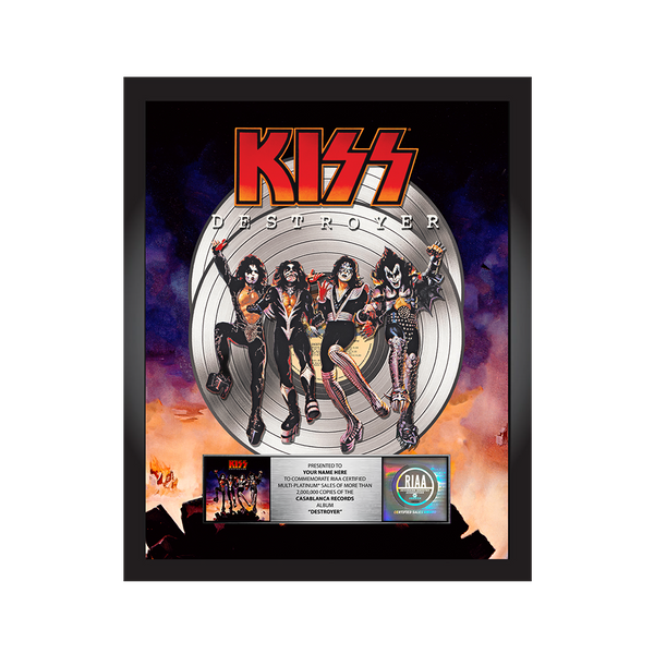 Personalized Destroyer Platinum Record